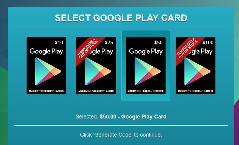 Get Google Play Gift Card Without Paying